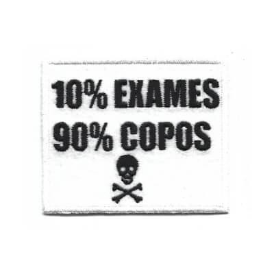 emblema 10 exames 90 copos