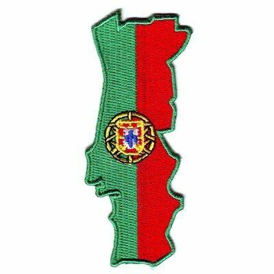 emblema bandeira portugal mapa