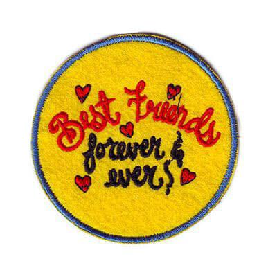 emblema best friends forever