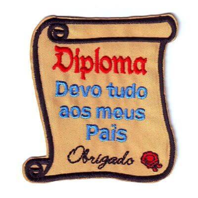 emblema diploma devo tudo aos pais