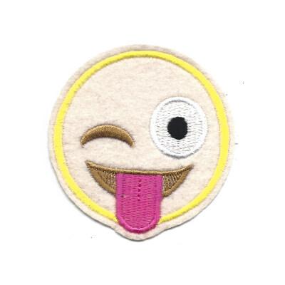 emblema emoji lingua de fora