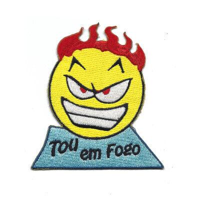 emblema emoji tou em fogo