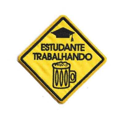 emblema estudante trrabalhado