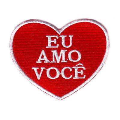 emblema eu amo voce
