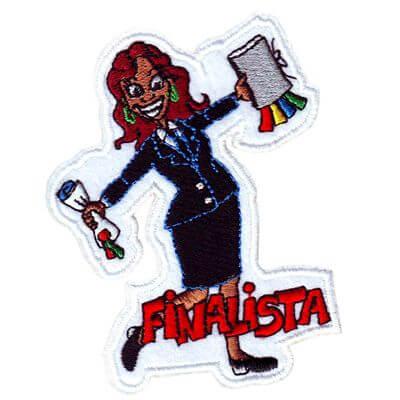 emblema finalista menina africana