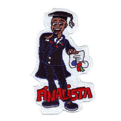emblema finalista rapaz africano
