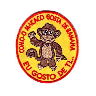 emblema macaco gosta de banana