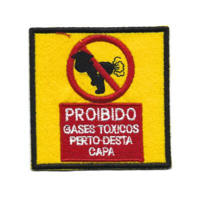 emblema proibido gases toxicos