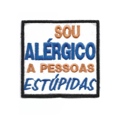 emblema sou alergico a pessoas estupidas
