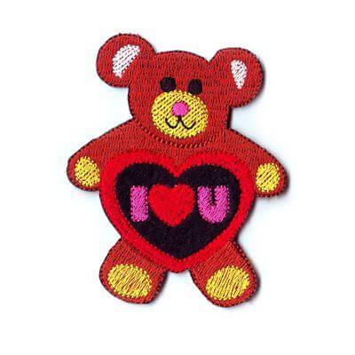 emblema ursinho i love you