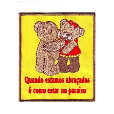 emblema ursinhos abracados paraiso