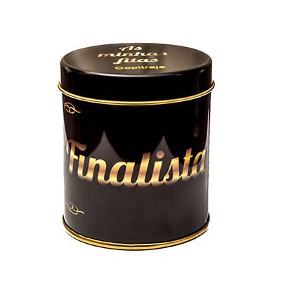 lata para fitas académicas preta dourada