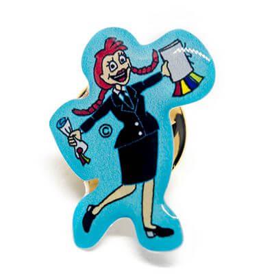 pin finalista mulher azul