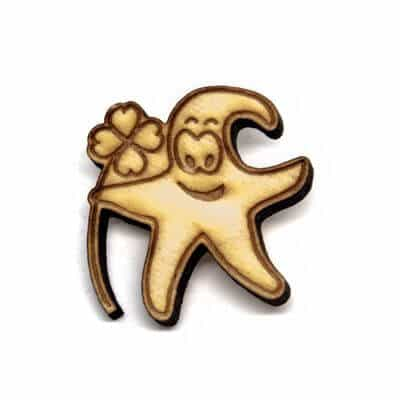 pin madeira flor estrela