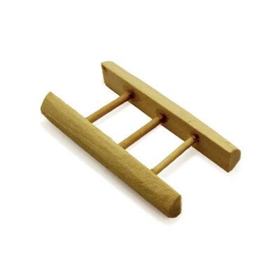 Miniatura madeira escadas3 degraus