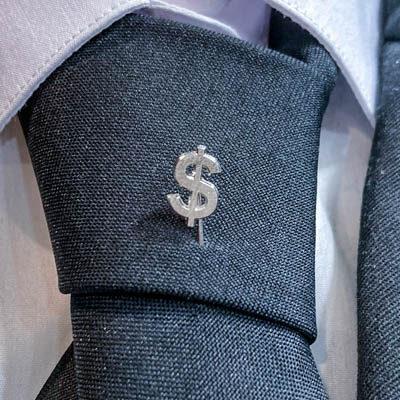 alfinete gravata dolar foto