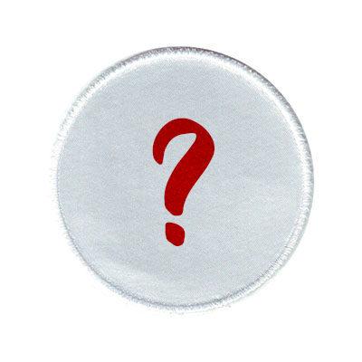 emblema branco circulo misterio