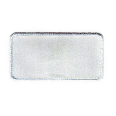 emblema branco rectangular vazio