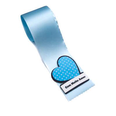 alfineteira coracao azul muito amor