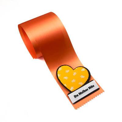alfineteira coracao laranja melhor mae