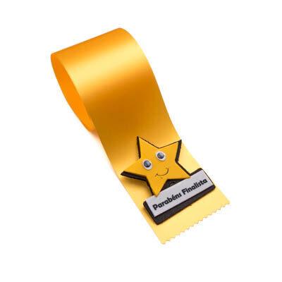 alfineteira estrela amarela parabens finalista