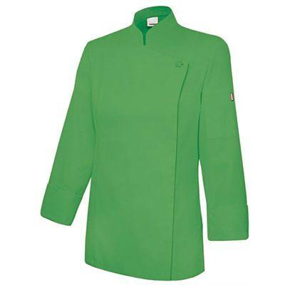 jaleca mulher cozinha mangas compridas verde
