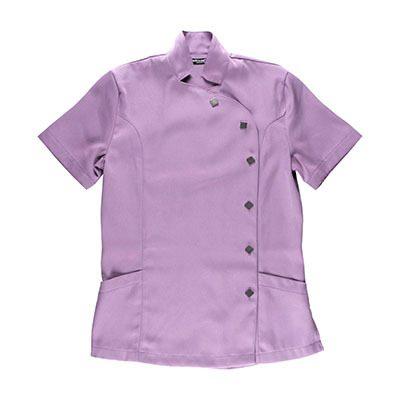 jaleca casaco de cozinheiro malva