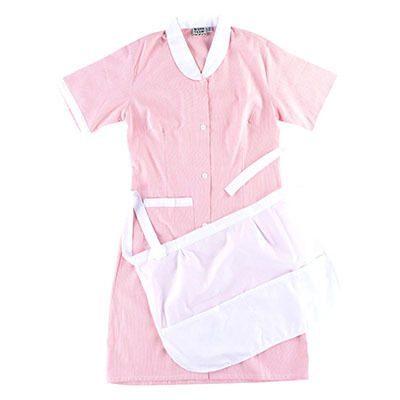 bata avental domestica rosa