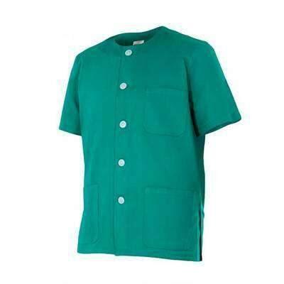 camisola botoes saude verde